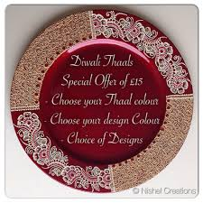 charger plates decorative: diwali thaals specialoffer of a thaal only choose your