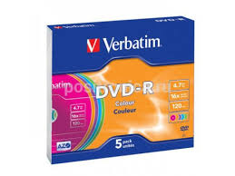 Купить оптический <b>диск Verbatim DVD</b>-<b>R 4.7 Gb</b>, 16x, Slim Case ...