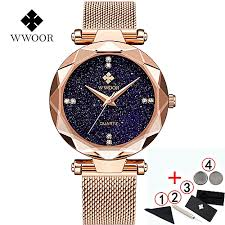 WWOOR WWOOR <b>Watch Women</b> luxury brand <b>2019 Fashion</b> Starry ...