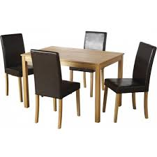 small dining tables sets:  small ash vaneer dining table set amp  expresso brown chairs low table and chairs