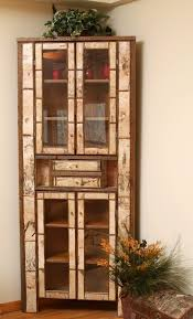 birch bark corner cabinet bark furniture