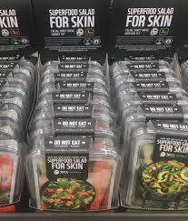 "FOR <b>SKIN</b>! <b>Superfood Salad</b> ""do not eat"" : CrappyDesign"