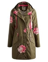 Joules Women's Waterproof <b>Parka</b>, Grape Peony. | Верхняя одежда ...