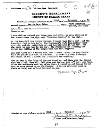 kennedy assassination eyewitness testimony a j millican