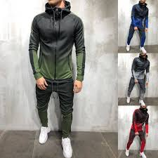2019 <b>ZOGAA</b> 2018 Brand Men Tracksuit Set <b>3D</b> Gradient Color ...