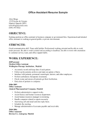 sample office assistant resume templates resume sample information sample resume resume template example for office assistant work experience sample office assistant