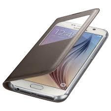 Купить <b>Чехол Samsung S View</b> Cover S6 Gold (EF-CG920PFE) в ...