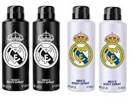 Buy <b>Real Madrid Black & White</b> Deodorant Combo Pack Of 4 ...