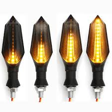 pair <b>12v</b> waterproof <b>led motorcycle turn</b> signal indicators with amber ...
