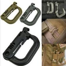 <b>5pcs</b> Tactical Grimlock Rotation D-ring Clips Buckle MOLLE ...
