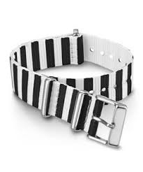 18mm <b>Solid</b> Color Fabric Slip-Thru <b>Double Layer</b> Strap - Timex UK