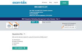 m8010 241 ibm real exam questions 100% exam labs ibm m8010 241 ibm enterprise marketing management s mastery test v1 exam