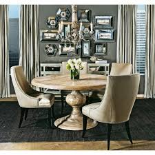 dining table parson chairs interior: magnolia round dining table four hands