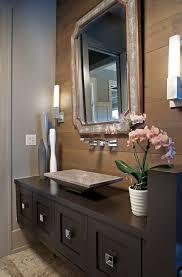 polished travertine vessel sink transitional powder room with powder room polished travertine angled v