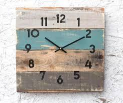 rustic beach house decor coastal theme reclaimed wood clock soft teal reclaimed wood beach house decor coastal