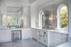 bathroom mirrored vanity marble top tiles