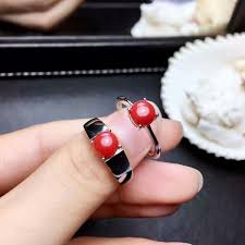 2019 <b>Shilovem 925 Sterling</b> Silver <b>Real</b> Natural Red Coral Rings ...