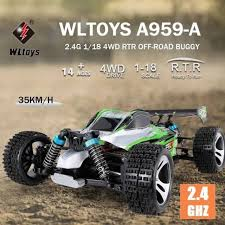 Wltoys <b>A959-A</b> Vortex RC Car 4WD <b>1:18</b> Buggy off road Remote ...