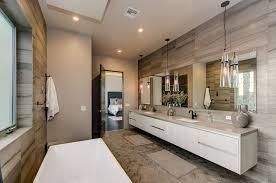 contemporary master bathroom with retro cone shaped pendant lights bathroom pendant lights