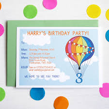 personalised birthday party invites rainbow balloon personalised birthday party invitations invitations