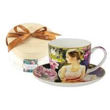 """<b>Чашка с блюдцем</b> """"<b>Девушка</b> с книгой"""", 0.28 л, в подарочной ..."""