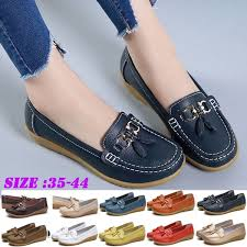 Womens <b>Genuine Leather</b> Flat Shoes, <b>Summer Loafers</b> Sandals for ...