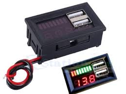 Lithium Battery Capacity Indicator Voltmeter Voltage Tester 5V <b>2A</b> ...
