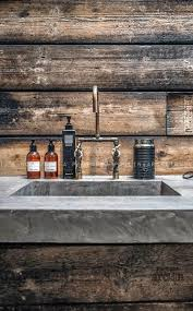 country themed reclaimed wood bathroom storage: industrial bathroom sink wood concrete  industrial bathroom sink wood concrete