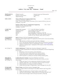 Research Experience On Resume 1 Science Resume Sample Resume