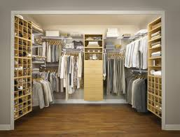 Dining Room Closet Furniture Stylish Modern Walk In Closet Design Idea In Light Brown