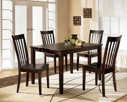 elegant square black mahogany dining table: mahogany furniture for dining room elegant dark brown stained wooden dining table
