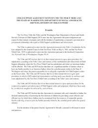 Child Support Agreement Template | playbestonlinegames CHILD SUPPORT AGREEMENT BETWEEN THE NEZ PERCE TRIBE AND THE