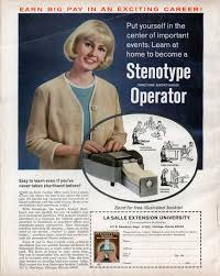 earn big pay in an exciting career stenotype operator modern earn big pay in an exciting career stenotype operator nov 1965
