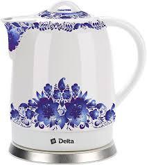 <b>Электрочайник Delta DL</b>-<b>1233B</b> Синие цветы купить недорого в ...