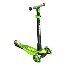 <b>YVolution Самокат</b> модель Y <b>Glider XL</b> Deluxe, черно-зеленый ...
