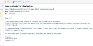 Best Photos of HR Rejection Letter Sample - Application Rejection ... Email Job Offer Rejection Letter Sample