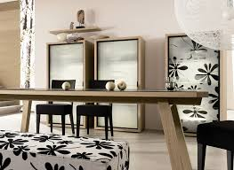 dining room with wooden table and black chairs and beige wall paint idea modern dining room breakfast room furniture ideas