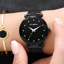 Women <b>Starry</b> Sky Watch Silicone Bracelet Analog Quartz Ladies ...