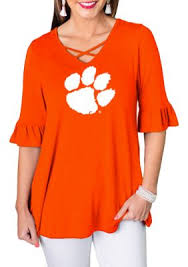 Gameday Couture Clemson Tigers Flowy Flutter Sleeve Top in 2019 ...