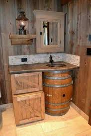 country themed reclaimed wood bathroom storage: i want a small rustic cabin with this as the bath mehr