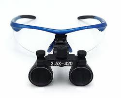 Dental Surgical <b>Medical Binocular Loupes 2.5X420mm</b> Optical ...