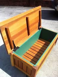 cedar garden storage bench by bbakaj lumberjocks woodworking cedar bench plans