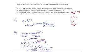 continuously compounding interest example mth 145 section 4 1 continuously compounding interest example mth 145 section 4 1