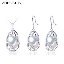 ZHBORUINI Pearl <b>Jewelry</b> Set 925 Sterling Silver <b>Jewelry</b> Natural ...