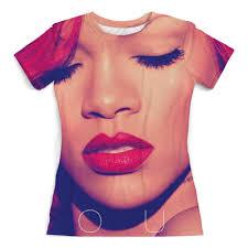 """Футболка с полной запечаткой (женская) """"<b>Rihanna</b>"""" #1973991 от ..."""