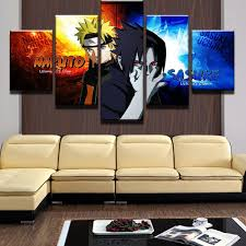 5 Pieces <b>Modular Picture</b> HD Printed NARUTO Canvas Painting ...