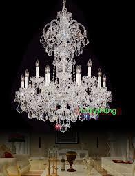 material polish chrome color metalglasscrystal lamp size diameter about 80 cm32height 100cm40chains size about 30cm height lampholder e14 or cheap home lighting