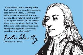 John Wesley on Voting | Delanco Camp