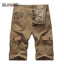 <b>2019 QUANBO 2019 New</b> Safari Style Loose Casual Shorts Brand ...