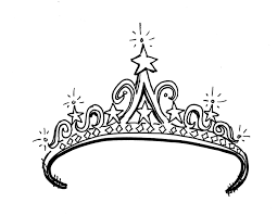 Small Picture Princess Tiara Coloring Sheet ClipArt Best fonts Pinterest